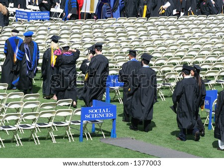 Students walking into a graduation ceremony