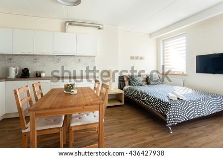 Studio apartment interior #436427938