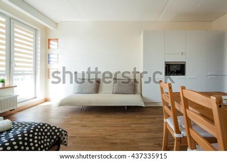 Studio apartment interior #437335915