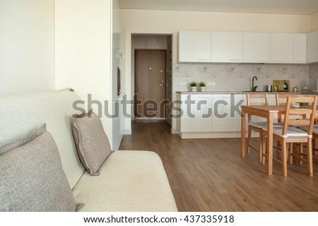 Studio apartment interior #437335918