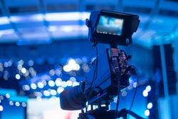 studio camera at the concert. television shooting