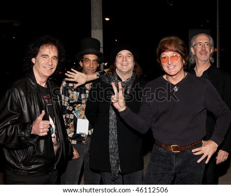 STUDIO CITY, CA - JAN 28: Tim Piper (2nd R) & band attends John Lennon last concert Just Imagine starring Tim Piper as John Lennon on January 28, 2009 in Studio City, California.