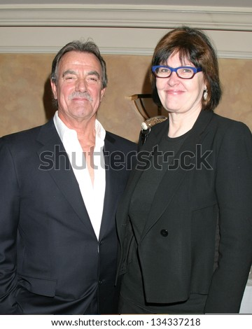 STUDIO CITY - JANUARY 19: Eric Braeden and Lynn Marie Latham at Pacific Pioneers Broadcasting Luncheon IHO Eric Braeden Sportsman\'s Lodge January 19, 2007 in Studio City, CA
