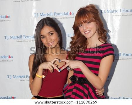 STUDIO CITY - SEPT 18: Pia Mia (L) & Bella Thorne (R) attends T.J. Martell Foundation Family Day  at CBS Studios Backlot, September 18, 2011 in Studio City, CA