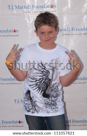 STUDIO CITY - SEPT 18: Sean Ryan Fox attends Dia Frampton & Disney Stars to Perform at T.J. Martell Foundation Family Day  at CBS Studios Backlot, September 18, 2011 in Studio City, CA
