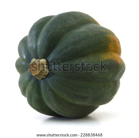 Studio close up of acorn squash isolated on white background with light shadow  #228838468