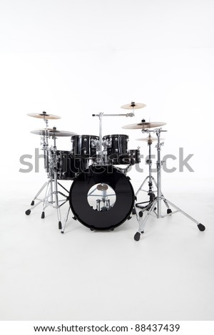 studio image of drums on white background