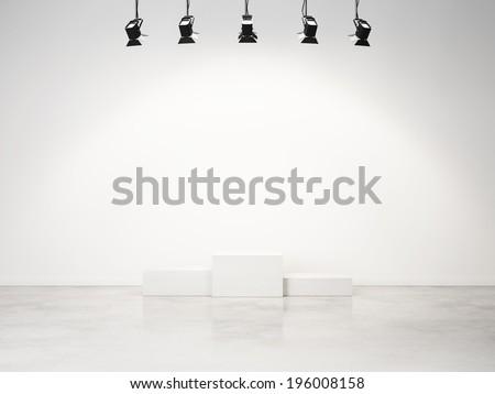 studio interior with empty podium #196008158