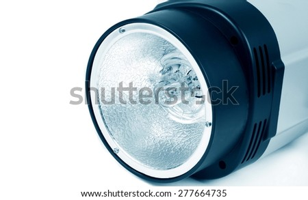 studio light flash lamp closeup