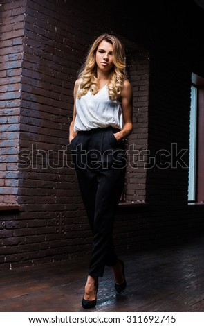 studio loft interior woman actress  #311692745