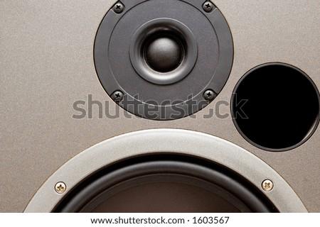 studio monitor speaker closeup (the real thing)