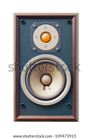 studio monitor speaker isolated on white