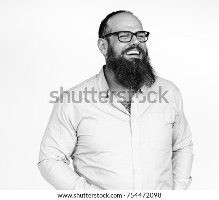 Studio People Shoot Portrait Isolated on White