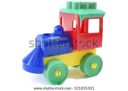 studio photo from a nice wooden toy train