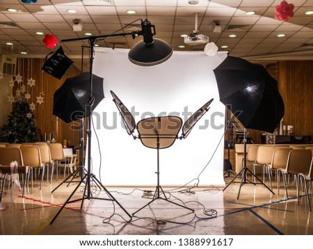 Studio Photo setup for chest shot