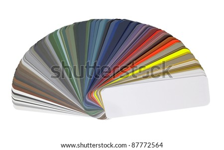 studio photography of a spread color chart isolated with clipping path
