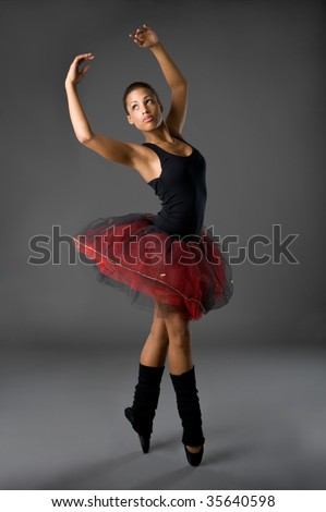 Studio picture from a classical ballerina