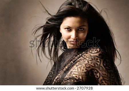Studio portrait of Indian beauty