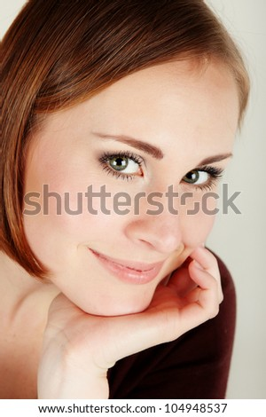 Studio portrait of sensual beautiful woman