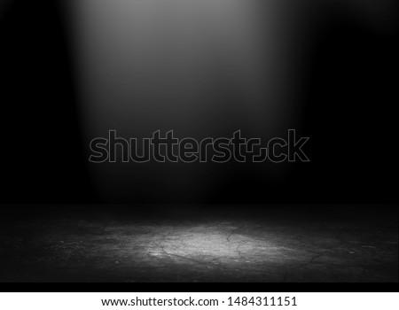 studio room gradient background. Abstract black white gradient background