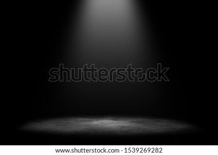 Photo of  Studio room gradient background. Abstract black white gradient background.