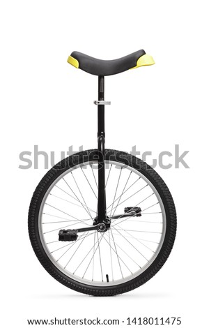 Studio shot of a unicycle isolated on white background