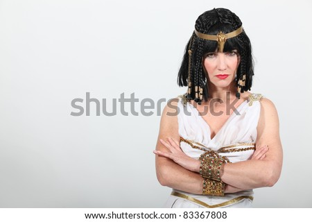 Studio shot of a very unhappy Cleopatra - stock photo