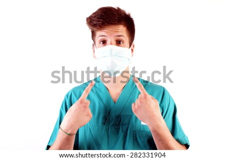 Studio shot of a young man with medical clothes #282331904