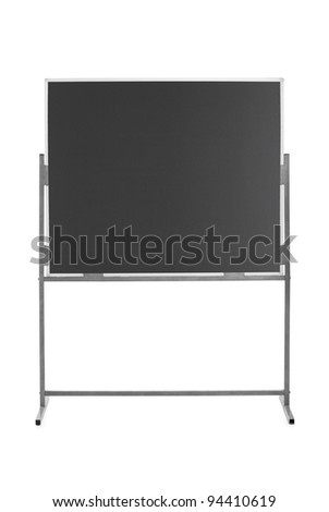 Studio shot of an empty school board isolated on white background