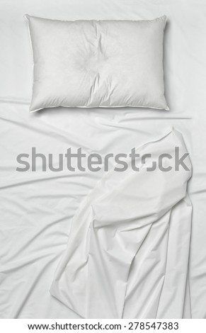 studio shot of bedding sheets and pillows #278547383