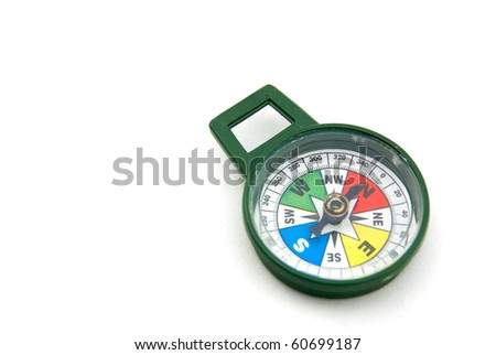 Studio shot of Compass against isolated white background
