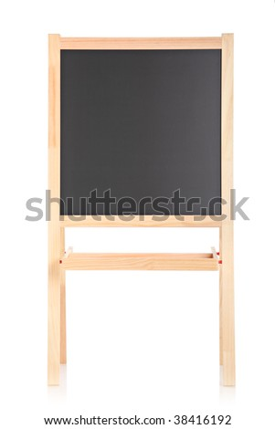 Studio shot of empty school board isolated on white background