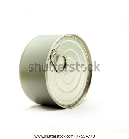 studio shot of food Aluminum metal can - stock photo