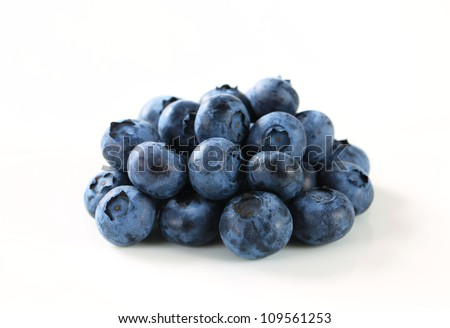 Studio shot of fresh blueberries #109561253
