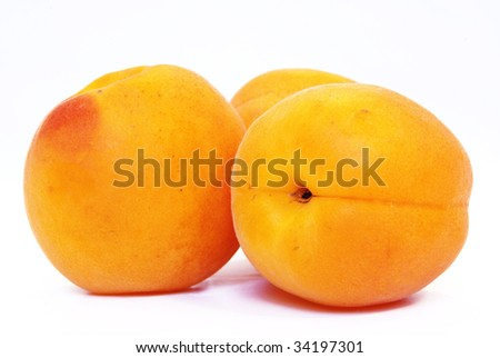 Studio shot of some nice fresh apricots.