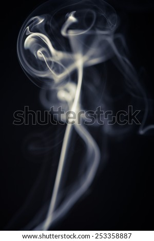 Studio shot of some smoke on a black background.