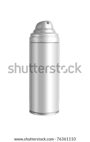 Studio shot of spray can isolated on white