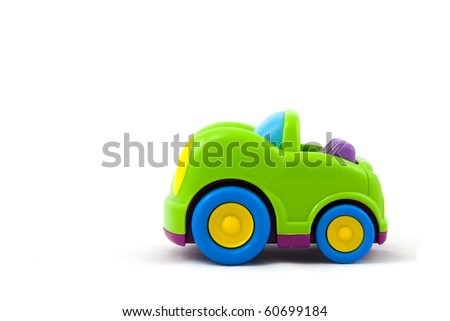 Studio shot of the Colorful Toy Car isolated on white.