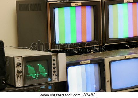 Studio TV Monitors in gallery