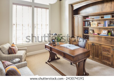 Study and Home Office in Beautiful New Luxury Home