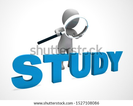 Study concept icon means getting a good education at school. Wisdom and KNOWHOW from understanding - 3d illustration
