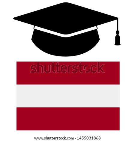 Study in Latvia - Illustration, Icon, Logo, Clip Art or Image for Cultural, Educational or State Events. Celebrating Scholarship Award on Summer. High Quality Education country