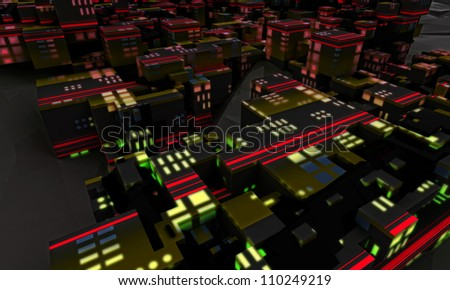 study of extra totally modern city architecture world concept as a stylish background render illustration or wallpaper