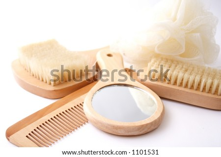 Stuff for bath and hair care.