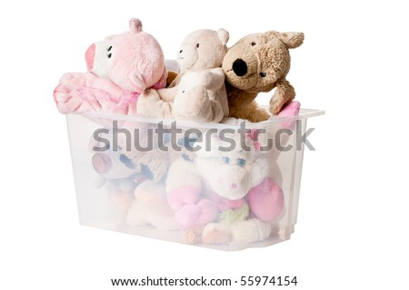 stuffed animals in case