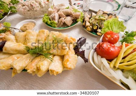 Stuffed cabbage stuffed vegetables.