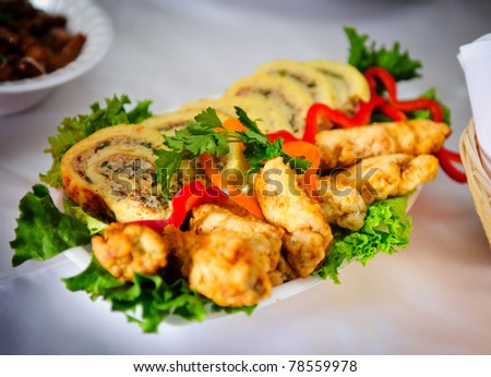 Stuffed chicken dish