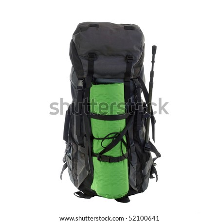 Stuffed expedition pack on the eve of a eight day wilderness adventure.