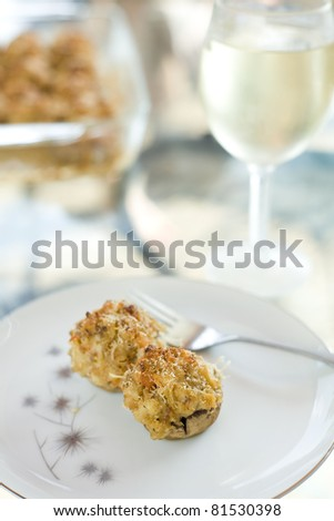 Stuffed Mushroom Appetizer with Wine Pairing