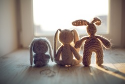 Stuffed toys animals: bunny collection. Bunny family